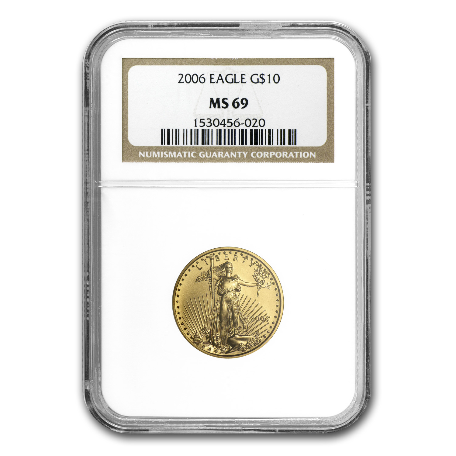 2006 1/4 oz Gold American Eagle MS-69 NGC